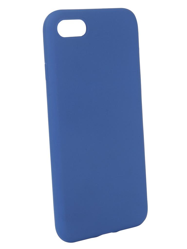 Аксессуар Чехол Brosco для APPLE iPhone 8 Blue Matte IP8-COLOURFUL-BLUE аксессуар чехол znp для apple iphone 8 blue