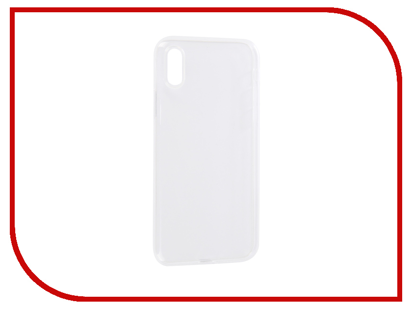 Аксессуар Чехол BROSCO Silicone для APPLE iPhone XS Transparent IPXS-TPU-TRANSPARENT wt 036 transparent acrylic radiator silver transparent 200ml
