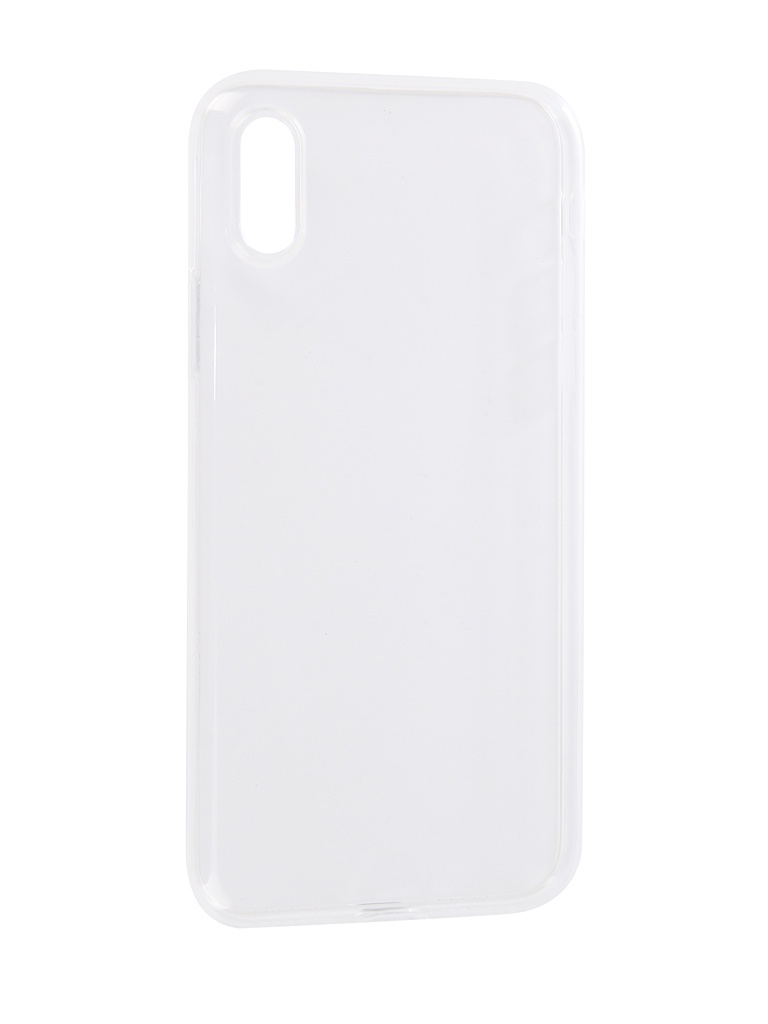 Чехол Brosco для APPLE iPhone XS Silicone Transparent IPXS-TPU-TRANSPARENT