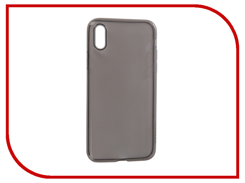 Аксессуар Чехол для APPLE iPhone XSBROSCO Silicone Black IPXS-TPU-BLACK аксессуар чехол nillkin nature tpu для iphone 7 8 white n tpu ap iphone7