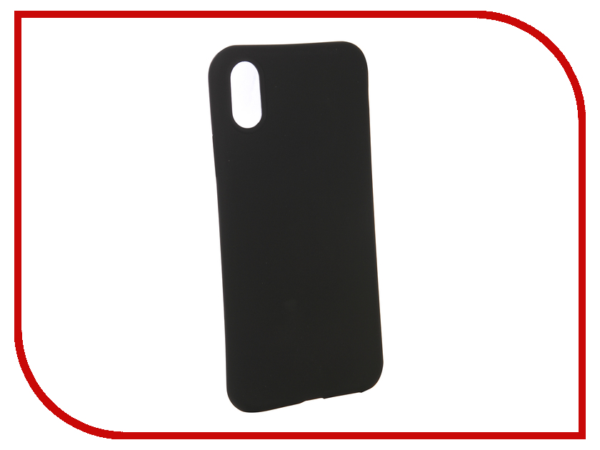 все цены на Аксессуар Чехол BROSCO для APPLE iPhone XS Black Matte IPXS-COLOURFUL-BLACK онлайн