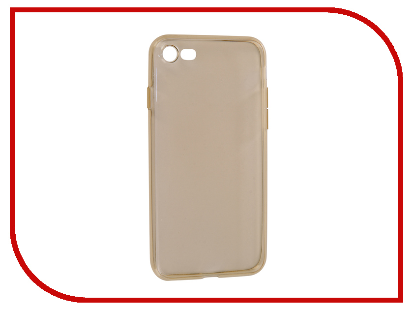 Аксессуар Чехол BROSCO Silicone для APPLE iPhone 7 Gold IP7-TPU-GOLD аксессуар чехол brosco superslim для apple iphone 7 white ip7 pp superslim white