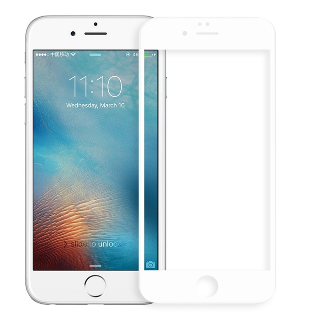Аксессуар Защитное стекло Brosco для APPLE iPhone 7 Plus 3D 0.3mm White IP7P-3D-GLASS-WHITE