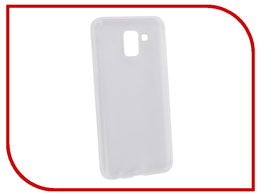 Аксессуар Чехол для Samsung Galaxy J6 2018 BROSCO Silicone Transparent SS-J6(8)-TPU-TRANSPARENT wt 036 transparent acrylic radiator silver transparent 200ml