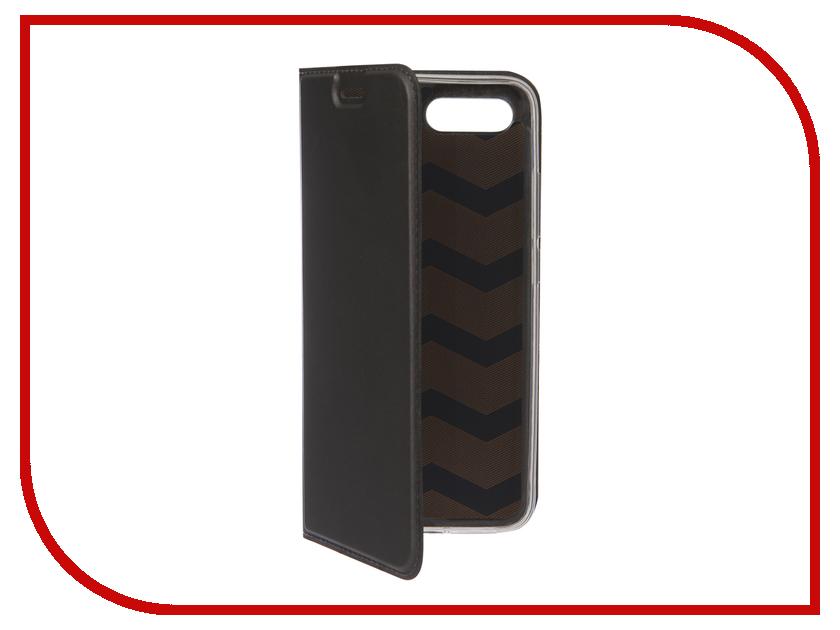 Аксессуар Чехол для Huawei Honor 10 BROSCO Black HW-H10-BOOK-BLACK аксессуар чехол huawei honor 8 brosco softtouch 4side black hw h8 4side st black