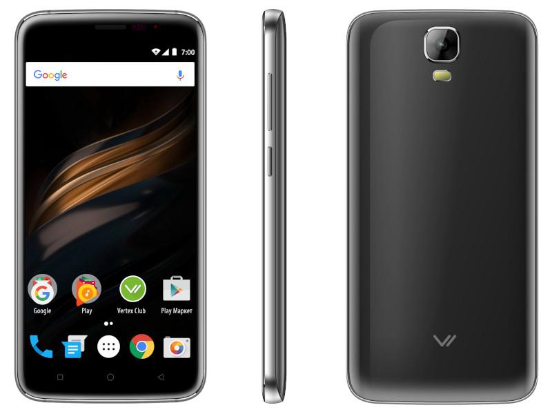 лучшая цена Сотовый телефон VERTEX Impress Win Graphite