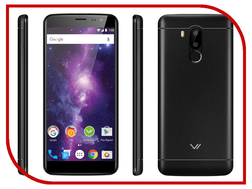 Сотовый телефон VERTEX Impress Vega Black сотовый телефон vertex impress lion dual cam black