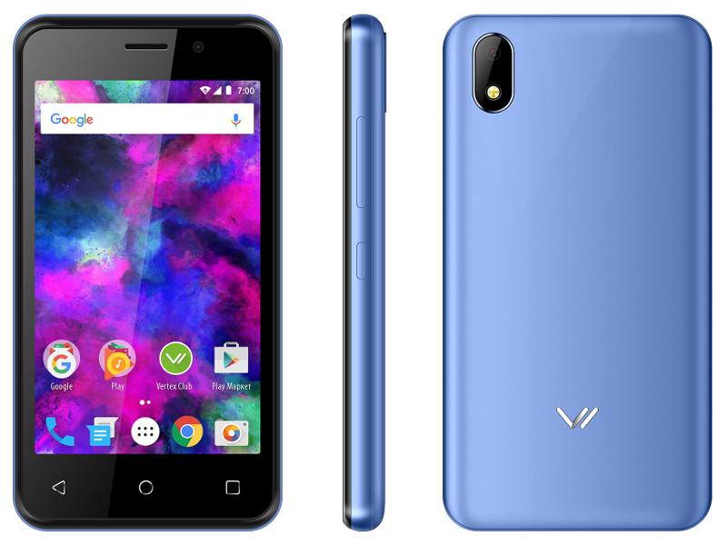 лучшая цена Сотовый телефон VERTEX Impress Funk Blue
