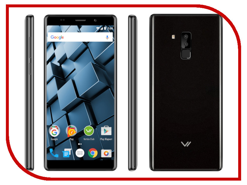 Сотовый телефон Vertex Impress Cube LTE Black смартфон vertex impress lux lte titan