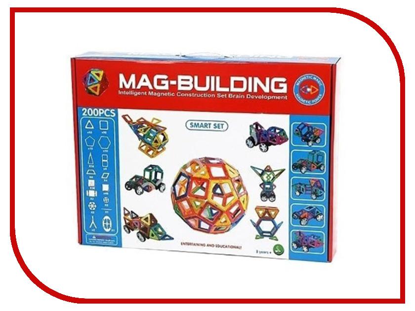 Конструктор Mag-Building Smart Set 200 дет children wooden toys early learning 100 puzzle building block set