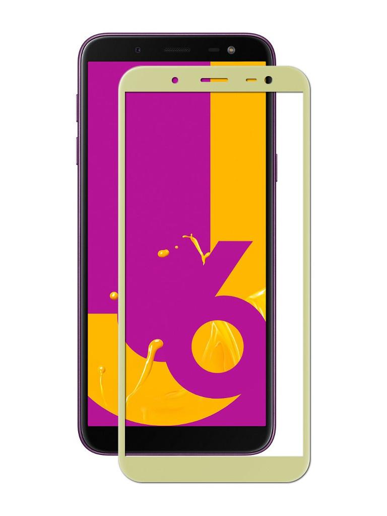 Аксессуар Защитное стекло для Samsung Galaxy J6 2018 Ubik 5D Gold