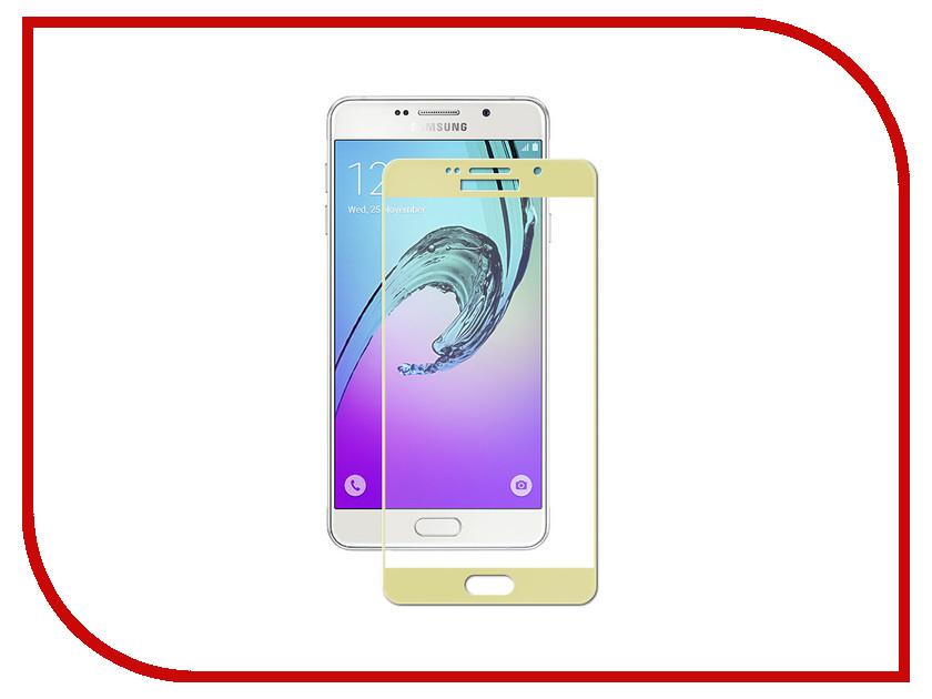 Аксессуар Защитное стекло для Samsung Galaxy A7 2016 Ubik 3D Gold аксессуар чехол samsung galaxy a7 2016 df scase 24 rose gold