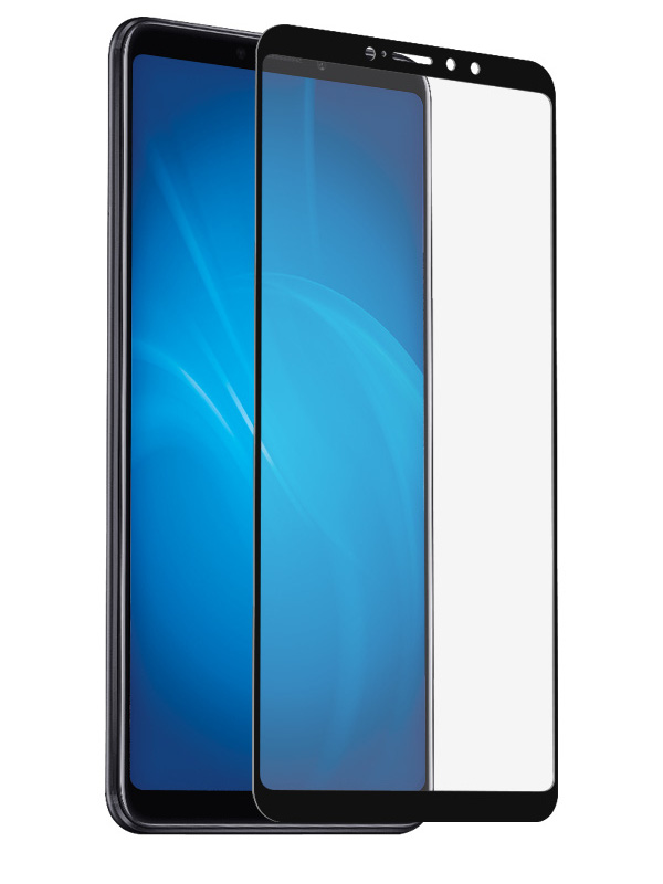 Аксессуар Защитное стекло DF для Xiaomi Mi Мaх 3 Fullscreen xiColor-40 Black Frame аксессуар защитное стекло для sony xperia xz2 df fullscreen xcolor 14 black frame