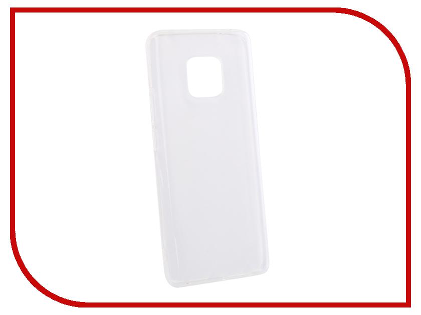 Аксессуар Чехол для Huawei Mate 20 Pro DF Silicone Super Slim hwCase-65 Transparent