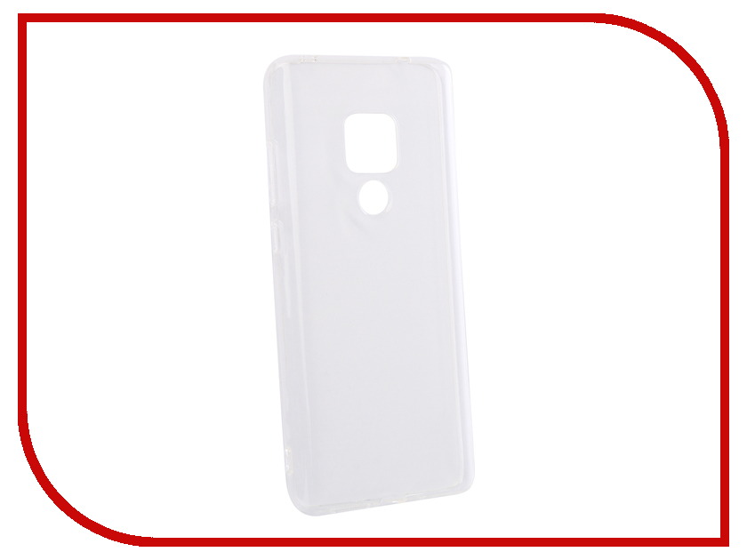 Аксессуар Чехол для Huawei Mate 20 DF Silicone Super Slim hwCase-64 Transparent