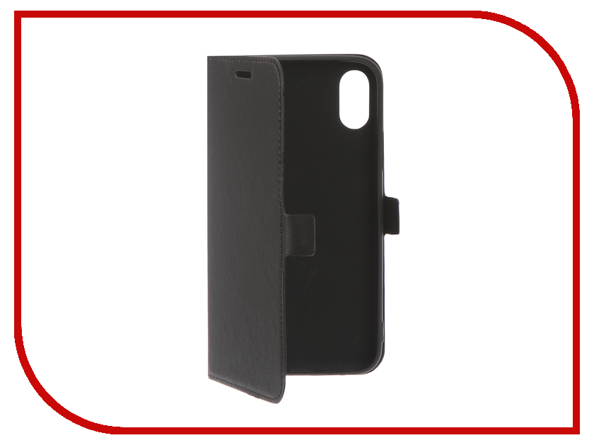 Аксессуар Чехол для APPLE iPhone XS DF iFlip-05 Black gissar twill чехол для apple iphone 5c black
