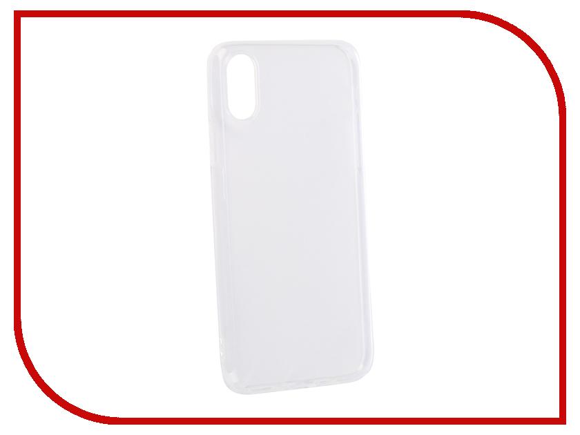 Аксессуар Чехол для APPLE iPhone XS DF Silicone Super Slim iCase-13 Transparent стоимость
