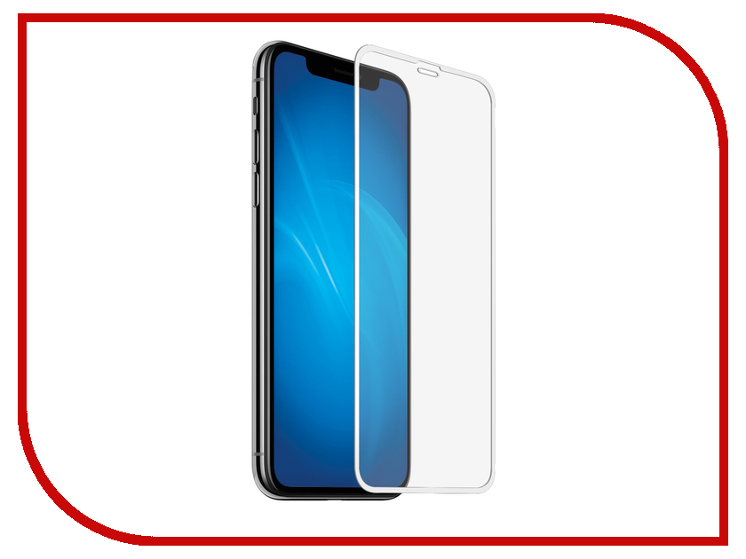 Аксессуар Защитное стекло DF Fullscreen для APPLE iPhone XS Max iColor-20 White Frame xuanxuan diary white xs