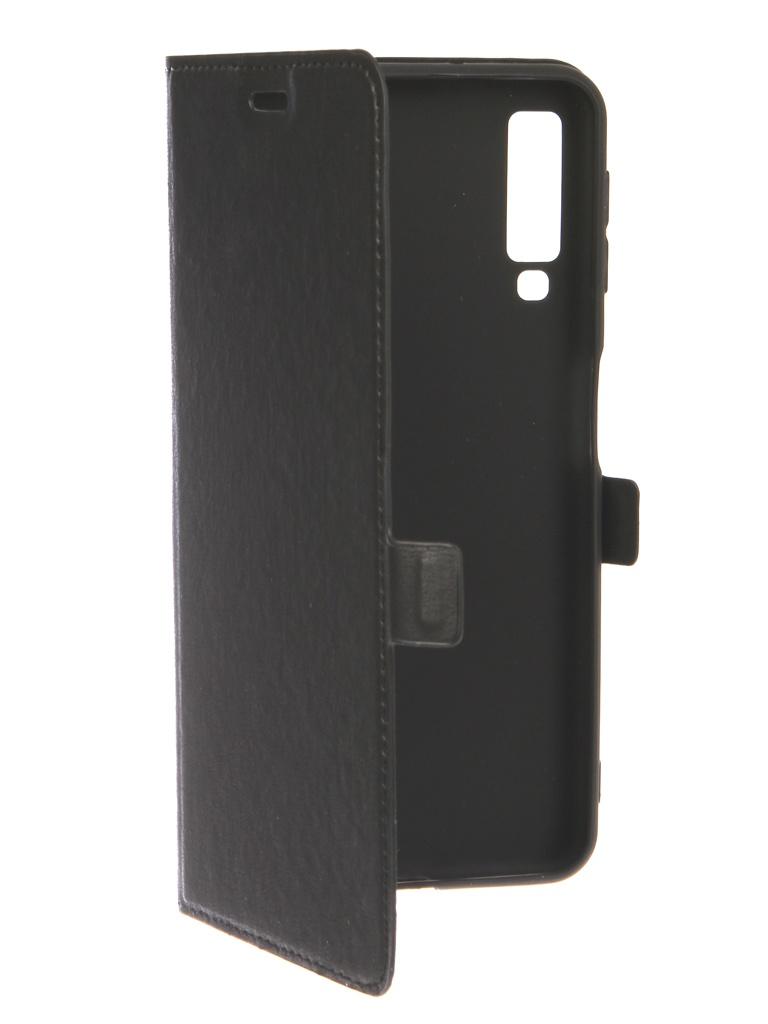 Чехол DF для Samsung Galaxy A7 2018 sFlip-38 Black