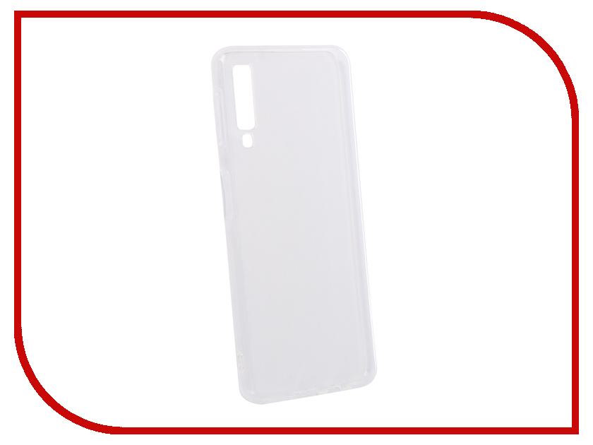 Аксессуар Чехол для Samsung Galaxy A7 2018 DF Silicone Super Slim sCase-69 Transparent