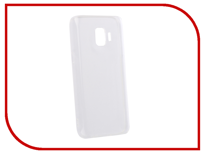 Аксессуар Чехол для Samsung Galaxy J2 Core DF Silicone Super Slim sCase-68 Transparent