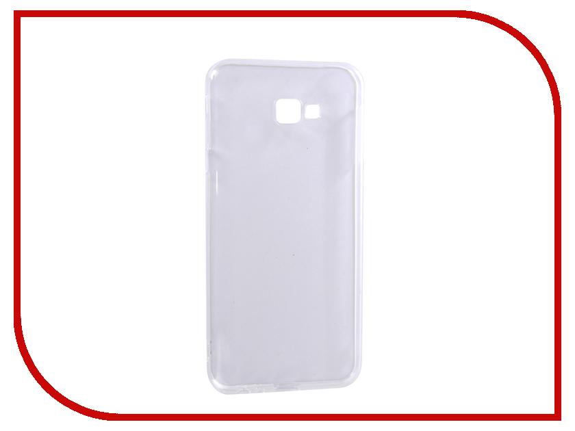 Аксессуар Чехол для Samsung Galaxy J4+ 2018 DF Silicone Super Slim sCase-67 Transparent protective clear screen protector film guard for samsung galaxy mega 6 3 i9200 transparent