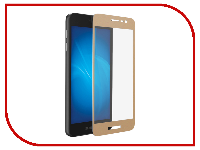 Аксессуар Защитное стекло для Samsung Galaxy J2 Core DF Fullscreen sColor-59 Gold Frame чехол df sslim 30 для samsung galaxy j2 prime grand prime 2016