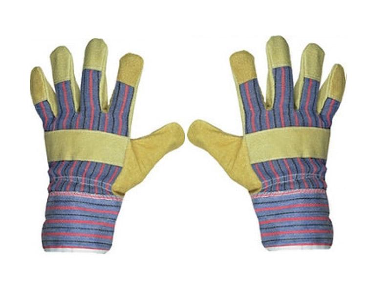 Перчатки спилковые комбинированные 67736