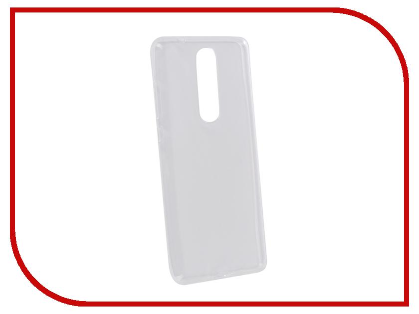 Аксессуар Чехол для Nokia 5.1 Pero Silicone Transparent PRSLC-N51TR аксессуар чехол для samsung galaxy a6 pero silicone transparent prslc a6tr