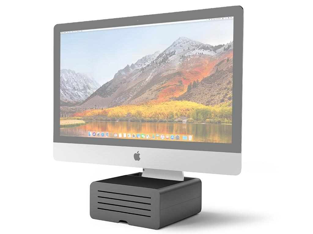 Аксессуар Подставка Twelve South HiRise Pro для iMac / Apple Display Black-Silver 12-1719