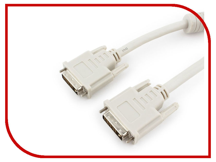 Аксессуар Gembird Cablexpert DVI-D Dual Link 25M/25M 10m CC-DVI2-10M 2m dvi d dual link 24 pin male to dvi d dual link 24 pin male digital video cable for digital crt displays projectors hdtv