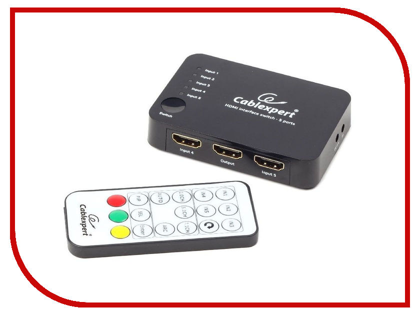 Сплиттер Gembird Cablexpert HDMI HD19Fx5/19F DSW-HDMI-52 200pcs 2512 12r 12r ohm 5