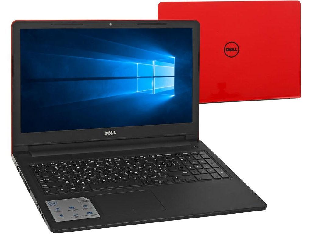 Ноутбук Dell Inspiron 3567 3567-6144 Red (Intel Core i3-7020U 2.3 GHz/4096Mb/500Gb/DVD-RW/Intel HD Graphics/Wi-Fi/Cam/15.6/1366x768/Windows 10 64-bit) ого pc office intel core i3 7100 3 90ghz 4gb 500gb dvd rw 450w windows 10