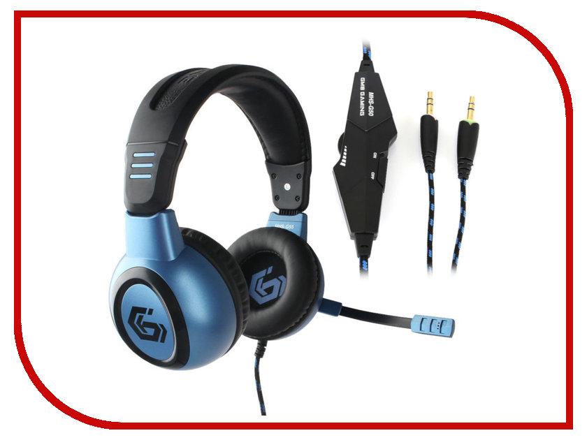 Gembird MHS-G55 Survarium Black-Blue gembird mhs 872 dark gray