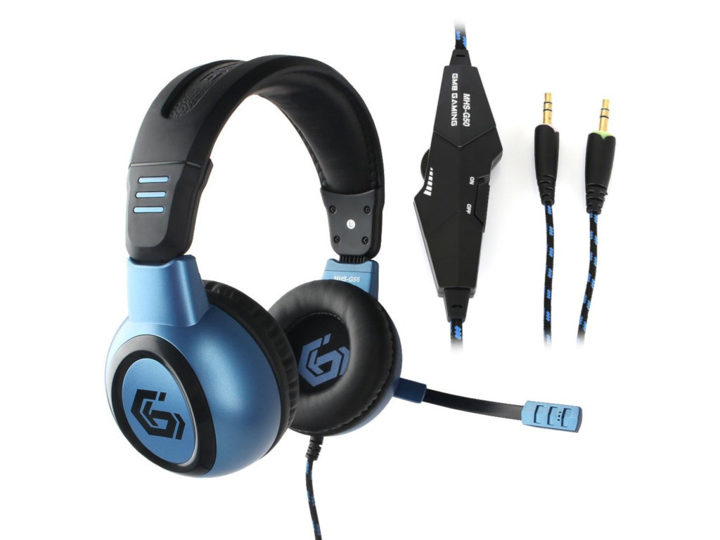 Gembird MHS-G55 Survarium Black-Blue цена