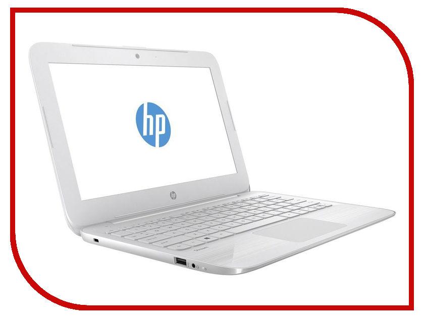 Ноутбук HP Stream 11-y013ur White 2EQ27EA (Intel Celeron N3060 1.6 GHz/4096Mb/32Gb SSD/Intel HD Graphics/Wi-Fi/Bluetooth/Cam/11.6/1366x768/Windows 10 Home 64-bit) ноутбук hp 11 ab008ur aqua blue 1jl45ea intel celeron n3060 1 6 ghz 4096mb 500gb intel hd graphics 400 wi fi bluetooth cam 11 6 1366x768 windows 10