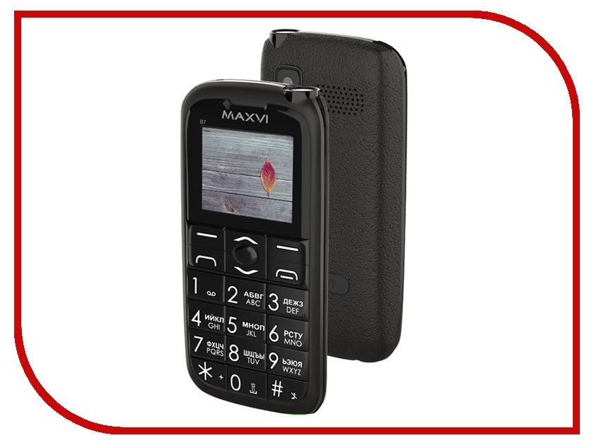 Сотовый телефон Maxvi B7 Black сотовый телефон maxvi p1 blue black