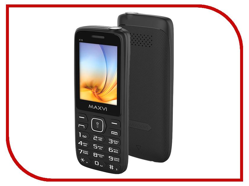 Сотовый телефон Maxvi K16 Black сотовый телефон maxvi p1 blue black