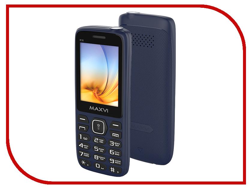 Сотовый телефон Maxvi K16 Blue телефон