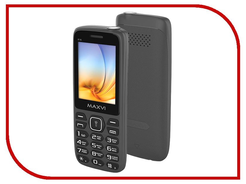 Сотовый телефон Maxvi K16 Grey сотовый телефон micromax canvas spark 2 pro q351 grey