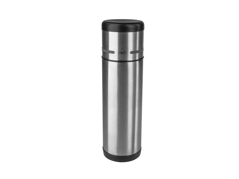 Термос EMSA Mobility (0,7 л) Black-Steel emsa термос mobility 509228 1 0 л фиолетовый сталь 60590 emsa