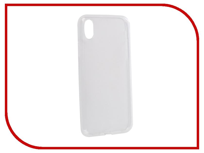 Аксессуар Чехол для APPLE iPhone XR Innovation Silicone 0.3mm Transparent 12856 аксессуар чехол для apple iphone 6 innovation silicone transparent 12216