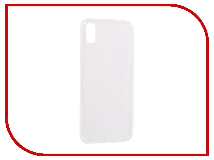 Аксессуар Чехол для APPLE iPhone XS Max Innovation Silicone 0.3mm Transparent 12857 аксессуар чехол для apple iphone 6 innovation silicone transparent 12216