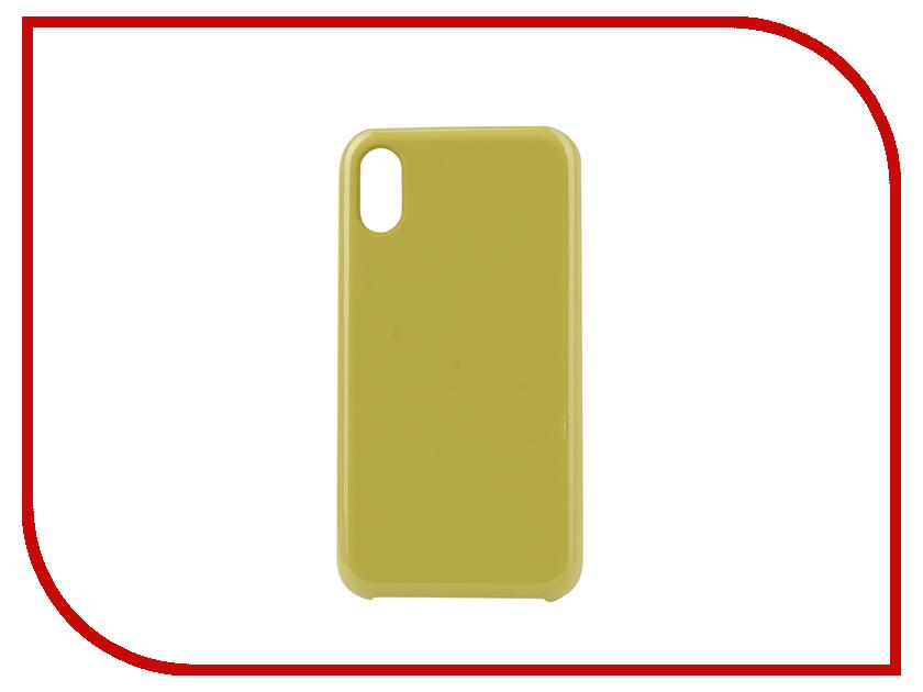 Аксессуар Чехол Innovation Silicone для APPLE iPhone XR Yellow 12843 аксессуар чехол innovation jeans для apple iphone 7 8 white 10774