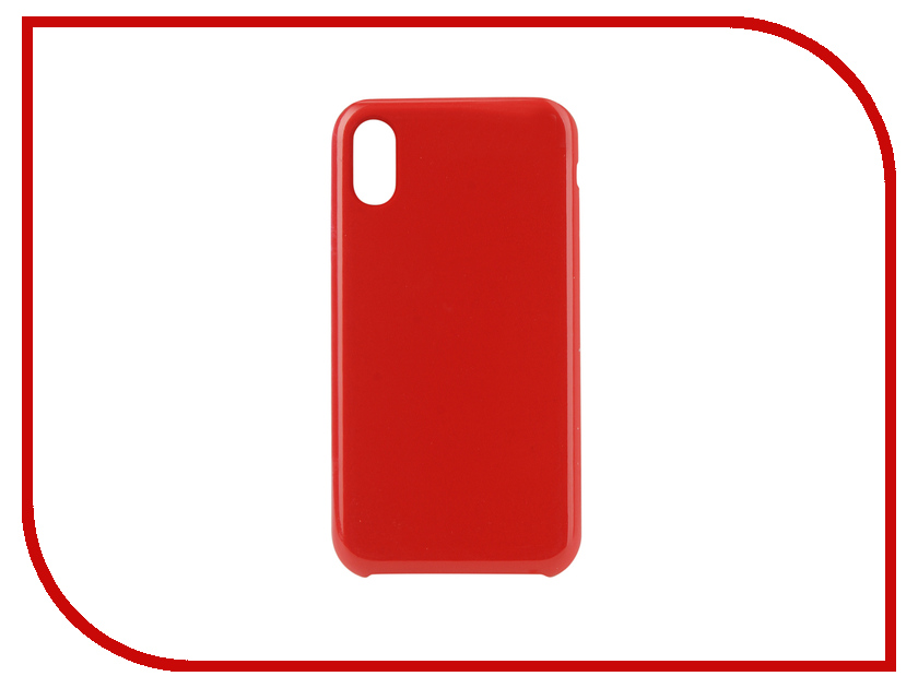 Аксессуар Чехол для APPLE iPhone XR Innovation Silicone Red 12844 аксессуар чехол innovation ferrari для apple iphone 5 red