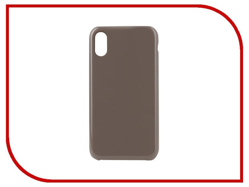 Аксессуар Чехол для APPLE iPhone XR Innovation Silicone Grey 12845 аксессуар чехол innovation silicone case для apple iphone 5g 5s 5se light grey 10611