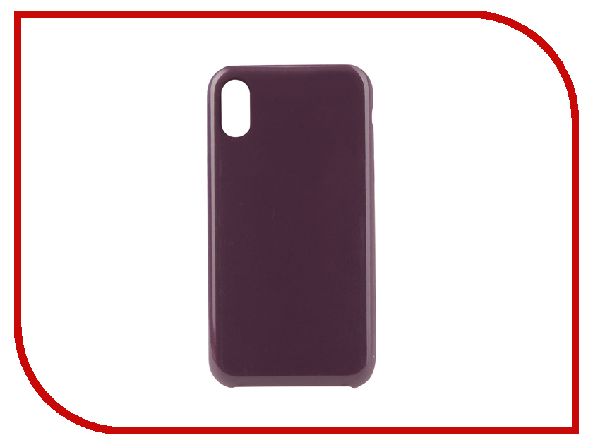 Аксессуар Чехол Innovation Silicone для APPLE iPhone XR Purple 12846 аксессуар чехол innovation jeans для apple iphone 7 8 white 10774