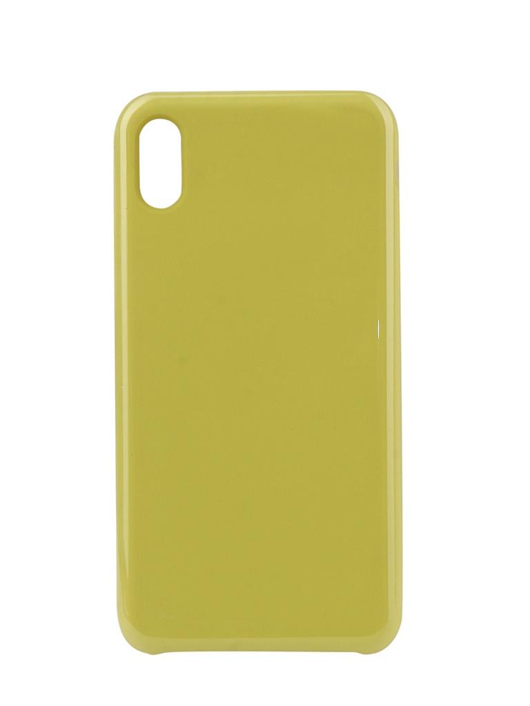 Аксессуар Чехол Innovation для APPLE iPhone XS Max Silicone Yellow 12852 аксессуар чехол для apple iphone xs max innovation book silicone magnetic gold 13365