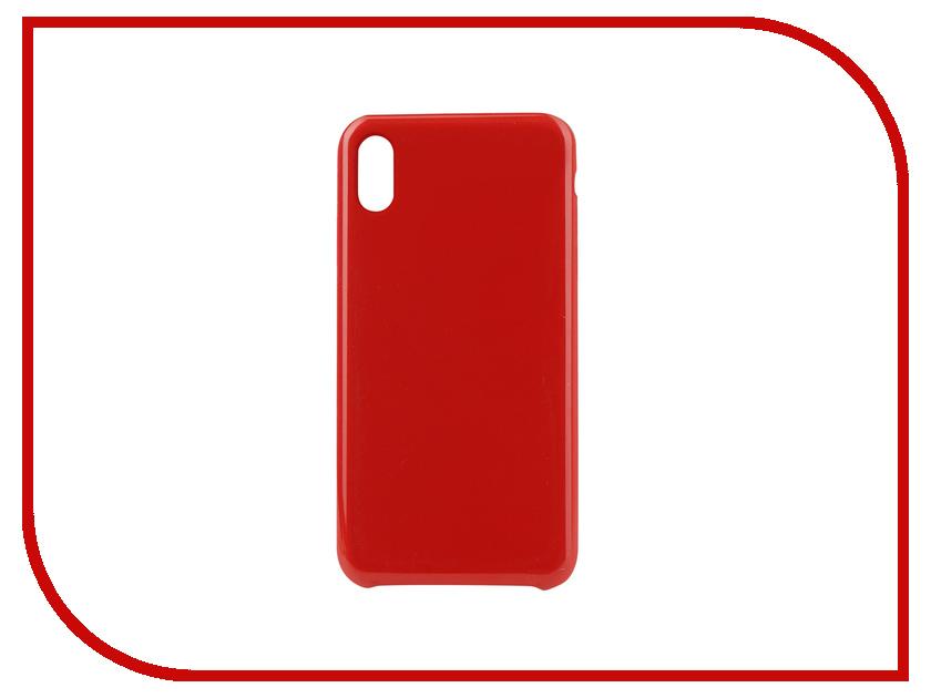 Аксессуар Чехол для APPLE iPhone XS Max Innovation Silicone Red 12851 gangxun blackview a8 max корпус высокого качества кожа pu флип чехол kickstand anti shock кошелек для blackview a8 max