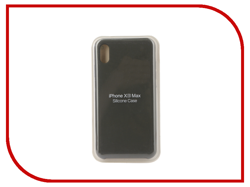 Аксессуар Чехол для APPLE iPhone XS Max Innovation Silicone Grey 12855 аксессуар чехол innovation silicone case для apple iphone 5g 5s 5se light grey 10611